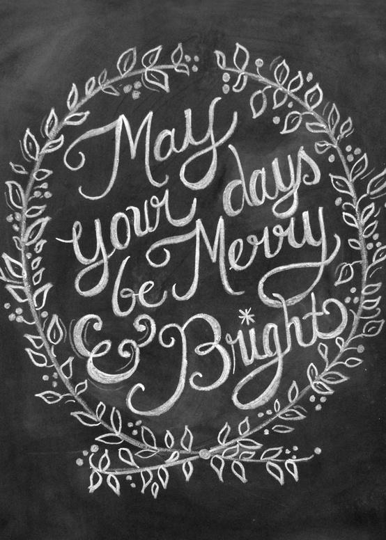 Chalkboard Merry Bright